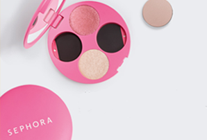 Sephora Promo: Free Sephora Pink Custom Palette (Min. spend on P918 on colorful eyeshadow)  with voucher code GETPINKPH
