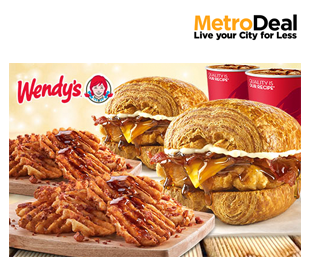 Croissant Meal for 2 at Wendy`s