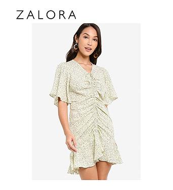 ZALORA Ruched Detail Dress