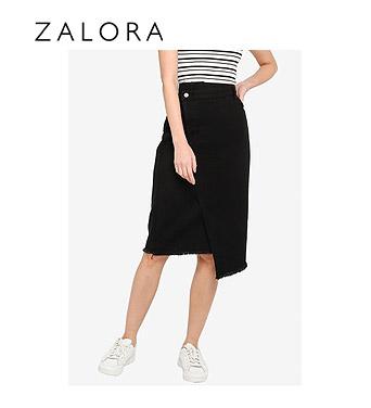 ZALORA Asymmetric Overlap Skirt