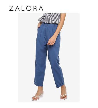 ZALORA Basics Pleat Leg Trousers