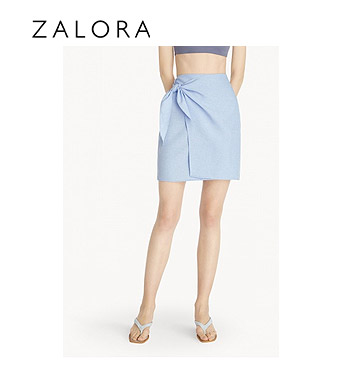 Pomelo Side Tie Wrap Skirt