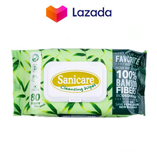 Sanicare Cleansing Wipes Bamboo